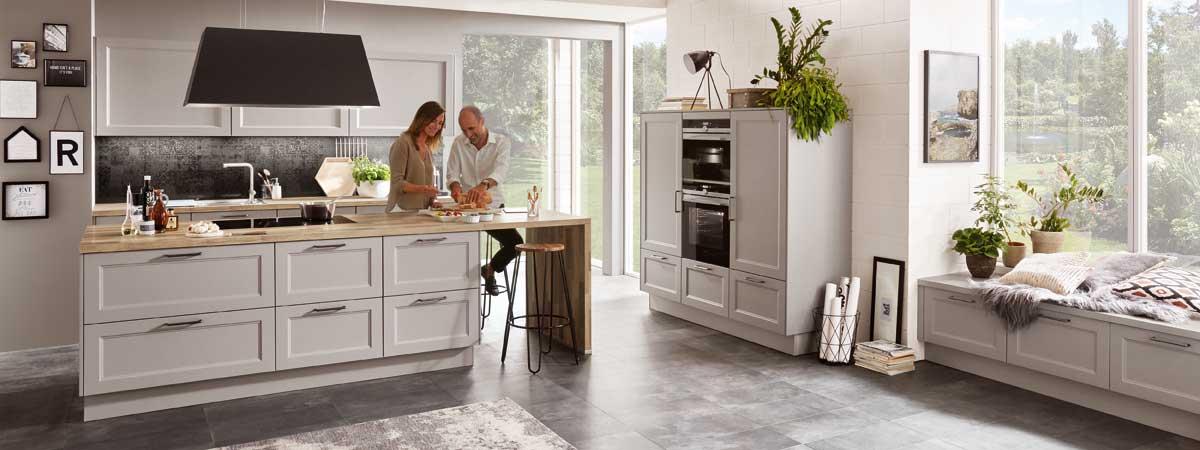 Moderner Landhausstil - Küche kaufen Küchenstudio ...